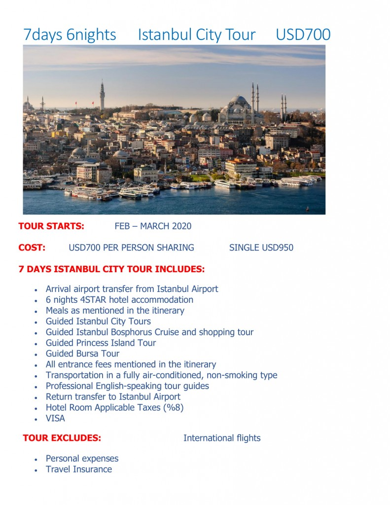 7days 6nights Istanbul City Tours-1